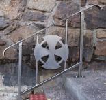 Custom Stair Rail with Trinity by Frykman Art Studio